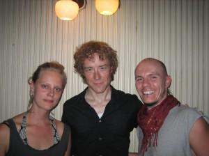 Mie, Alan og Brian - efter koncerten i Vega august 2007